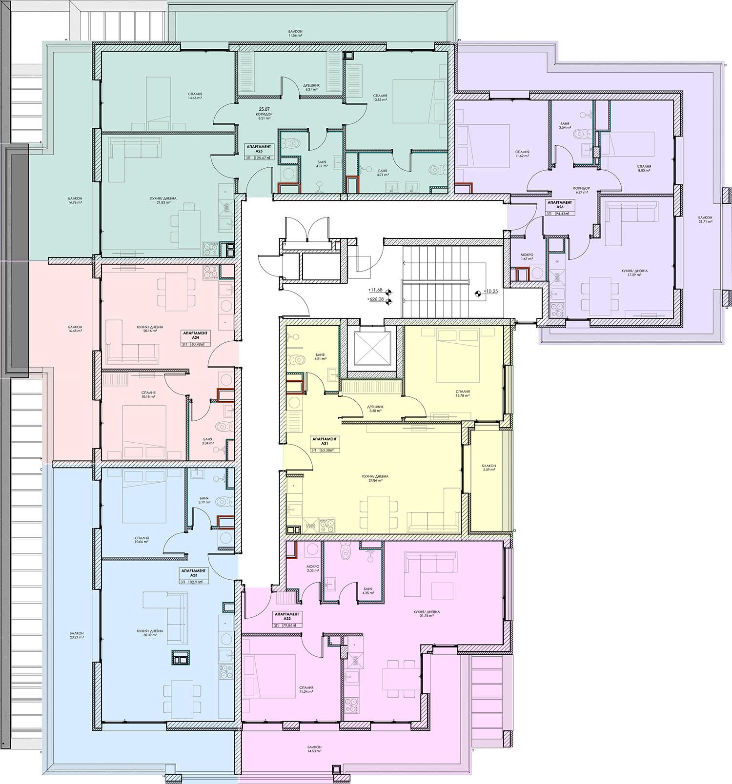 Сграда A – Етаж 4